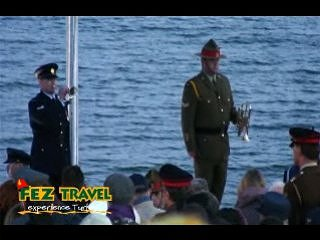 View our ANZAC Day at Gallipoli, Dawn service at ANZAC Commemorative site. [9.2 Kb 1:58 mins]